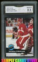 1991 NHL Pro Set #610 Nicklas Lidstrom RC Rookie Graded GMA 8.5 NM-MT+~ PSA 8.5?