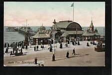 L@@K  North Pier Blackpool 1900's Postcard ~ NICE IMAGE ~ GOOD QUALITY CARD