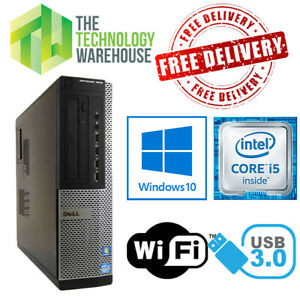 Dell Optiplex PC Computer i5 Quad Core CPU up to 16GB Ram + SSD & Windows 10 Pro