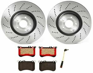 Brembo Front Brake Kit Ceramic Pads Drilled Disc Rotors for Mercedes W218 CLS550