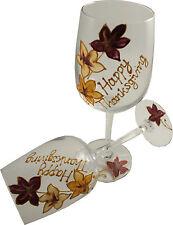 Happy Thanksgiving Cadeau Paire de Verres à Vin