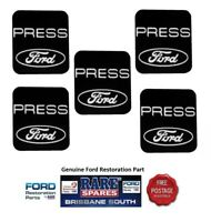 """FORD FALCON LATE XB XC ZG ZH FAIRLANE DECAL SET SEAT BELT """"PRESS FORD"""" X5 GT"""