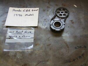Honda cbr600f CBR 600 F Oil Pump Drive Gears & Chain