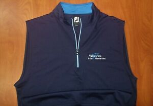 FootJoy Valley Country Club Performance Woven Stretch 1/2 Zip Golf Vest M ~NEW~
