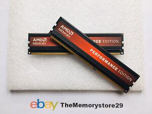 8GB 2 X 4GB AMD Performance Edition DDR3 Memory PC3-12800 1600MHz  DIMM 240 Pin