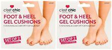2x Foot And Heel Gel Cushions (1xFoot 1xHeel) Cushioning & Comfort For Your Feet