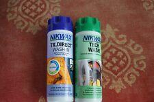Nikwax Tx Direct & Tech Laver pour Lavage Nettoyage Imperméabilisant Eau Habits