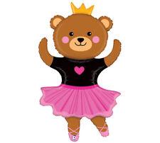PINK & BLACK Ballerina BEAR Dancer Ballet Recital Birthday Party Balloon