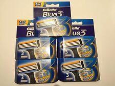 15 Gillette Bleu 3 Lames de rasoir PASSENED SUR CAPTEUR, capteur EXCEL Neu /OVP