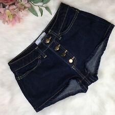 American Apparel High-Waisted Dark Wash Shorts Daisy Dukes Button Fly Size 25