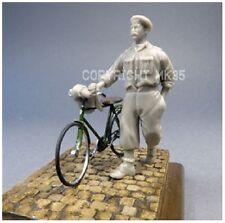 1/35 scale civilian pushing a bike - resin model kit