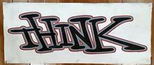 """Think skateboards banner 15"""" x 36"""" skate"""