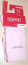 2 Paar Esprit 19041 - Kindersocken / Socken - Gr.: 23-26 - Rosa 8440 - NEU