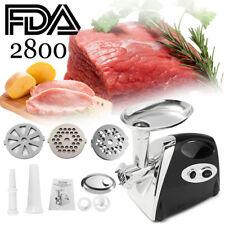 2800W Electric Meat Grinder kit Kitchen Food Sausage Stuffer Mincer Black