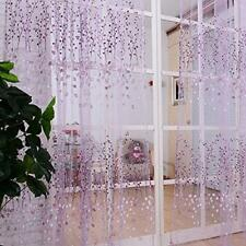 Floral Tulle Voile Door Window Curtain Drape Panel Sheer Valances Curtain CP