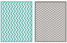 Lifestyle Crafts QuicKutz, 2-Pack, A2 Embossing Folders ZIG ZAG Chevron ~EF0012