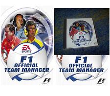 F1 Official Team Manager PC Rarität !! SAMMLERSTÜCK