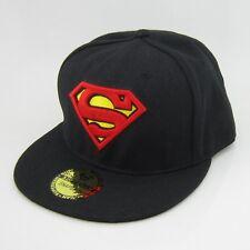 New  Dc Black Adjustable Snapback Superman Flat Bill Hiphop baseball Hat cap
