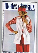 MODES & et TRAVAUX N°907  1976  pages poupees  fashion