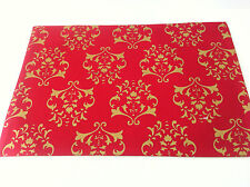Red and Gold Festive Printed Placemat - 33 x 48cm