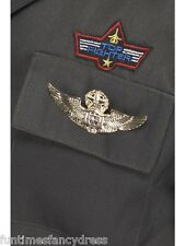 RAF Airborne Aviator Airline Fighter Pilot Wings Badge Top Gun Fancy Dress