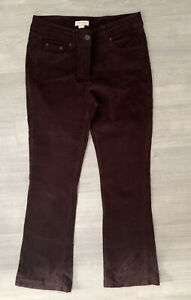 Monsoon Ladies Needlepoint Corduroy Brown Size 10 Bootleg Casual Autumn