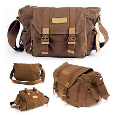 Canvas Vintage Shoulder Messenger Camera Bag For Canon Nikon Sony Pentax DSLR
