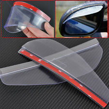 Universal 2pcs Car Rear View Side Mirror Rain Shield Sun Visor Shade Water Guard