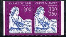 STAMP / TIMBRE FRANCE NEUF N° 3052A ** EN PAIRE JOURNEE DU TIMBRE  DE CARNET