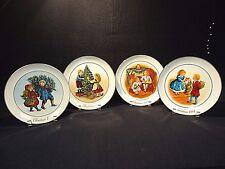 "Vtg Avon ""Christmas Memories"" Porcelain Plates - Set of 4 (1981-84) w/ Boxes"