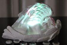 Deko Engel LED Beleuchtung  Feder Figur Skulptur Farbwechsel Engelchen Tischdeko