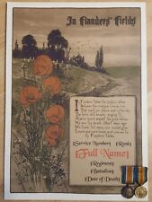 More details for wwi memorial scroll in flanders' fields - military art remembrance print ww1