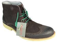 NOBRAND Herrenschuhe Leder Stiefel Gr.44 Vintage Schuhe Boots Stiefelette #M135