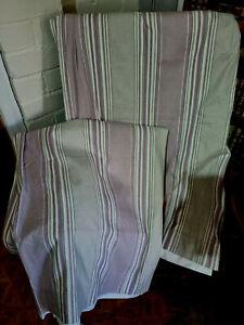 """Laura Ashley Amethyst Seymour Stripe Curtains 220 cms x 220cms 86.5"""" x 86.5"""" ea"""