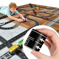Kinderkreatives Spielwaren Eisenbahn Straßen Band Boden Aufkleber B7B8 D9W7