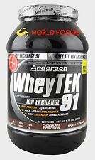 ANDERSON RESEARCH WHEY TEK 91% PROTEINE IN POLVERE ISOLATE 800 GR CACAO PALESTRA