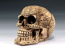 Skull Maya Tribal Tattoo  Figurine Statue Skeleton Halloween