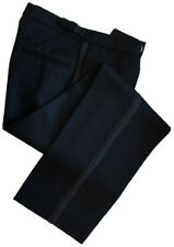 "Finest Barathea Wool Black Dress Trousers Waist 46"" Inside Leg 30"""