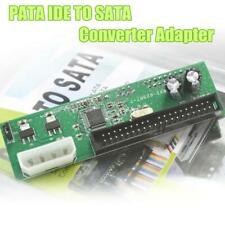 PATA IDE TO SATA Converter Adapter Plug&Play 7+15 Pin 3.5/2.5 SATA HDD DVD NEW