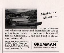 1955 AD GRUMMAN BOATS ALASKA AFRICA SEAPLANE PHOTO