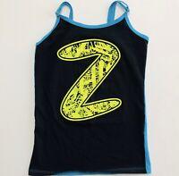 Women's Zumba Fitness Zumba Tank Top Black Teal Size XS