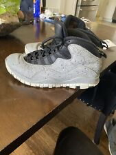 Nike Air Jordan 10 X Retro Mens US 8.5 Cement Light Smoke Grey Black 310805 062