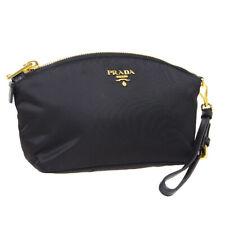 Prada 徽标化妆品包保护袋 #42 #1ne856 钱包黑色尼龙 tessuto Nero r11852