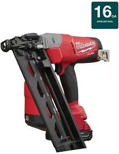 Milwaukee Angled Finish Nailer Air Gun Kit Cordless 18-Volt Battery Charger Case