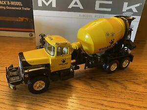 """First Gear Mack-R-Model Concrete Mixer """"Tiger Paw Excavating"""" 1/34 Scale"""