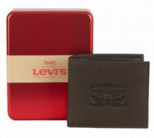 Mens Levis Fashion Leather Bi-Fold Wallet With Coin Pocket 222539 - Brown