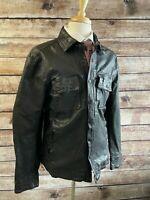 NWT Polo Ralph Lauren Sheep Leather Shirt Jacket Size L Black