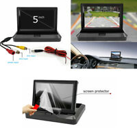 "Folding 5"" TFT LCD Monitor Car Reverse Rear View Monitor 800x480 for Camera DVD"