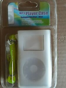 White Silicone Case for MP3 Player Fits iPod Mini - New In Sealed Pack