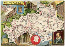 CARTE DU DEPARTEMENT HAUTES ALPES. 05. J.P.PINCHON. BLONDEL LA ROUGERIE